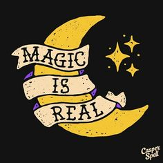 Magic Moon Stars Art Magical Tattoo Design Macabre Halloween Celestial Night Goodnight Banner Casper Spell (www.CasperSpell.com)