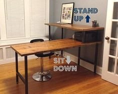 L Shaped Double X Desk – HandmadeHaven | Office Tutorials ...