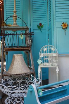 """Wire Baskets, Lamps, Birdcages On Sale at """"Room With A Past""""  Sept 20 - 23 2012, Walnut Creek, CA"""