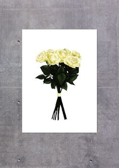Yellow Bouquet via Peytil Print Shop. Click on the image to see more!