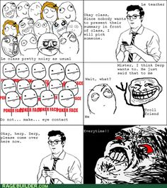 Actually i am the troller Rage Comics Funny, Derp Comics, Stupid Funny Memes, Funny Posts, Hilarious, Troll Meme, Rage Faces, Haha, Everything Funny