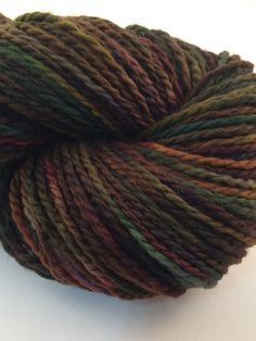 Handpainted wool worsted weight knitting by WendysWonders127