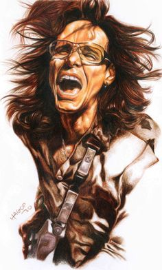 """""""Steve Vai"""" Graphic/Illustration by Hagop Der Hagopian posters, art prints, canvas prints, greeting cards or gallery prints. Find more Graphic/Illustration art prints and posters in the ARTFLAKES s. Caricatures, Shiva Photos, Steve Vai, Caricature Drawing, Love Posters, Music Artwork, Guitar Art, Concert Posters, Funny Art"""
