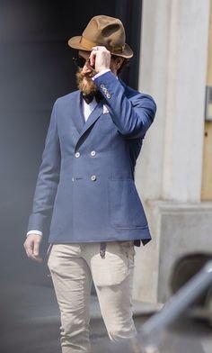 The Sharp Gentleman Cool Style, Style Men, Men's Style, Dapper Gentleman, Sunnies, Knit Tie, Facon, Seersucker, Bearded Men