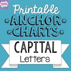FREE!! printable anchor charts for capital letters/ capitalization