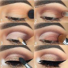 Grandes passos para criar este olhar glitter @ rubina_muartistry