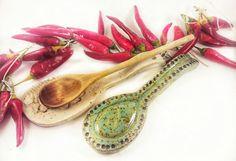 Ceramics rest spoon. Handmade rest spoon.