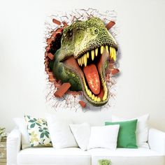 Dinosaur New Creative Decorative Three-dimensional Wall Stickers Dinosaur Wall Stickers, Wall Stickers Murals, Dinosaur Kids Room, Kids Wall Murals, Mural Wall, 3d Wall, Shops, Removable Wall Decals, Home Decor Pictures