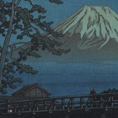 Mt. Fuji in Moonlight, Kawaibashi, 1947 by Kawase Hasui