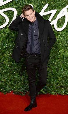 Jeremy Irvine at the 2014 British Fashion Awards (BFAs) Photo: © PA