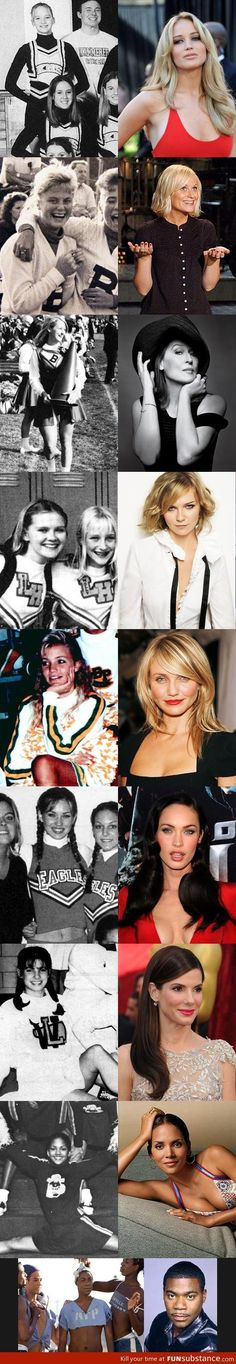Actresses and Actor who were cheerleaders! Hahaha