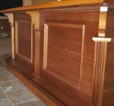 Mahogany Bar with granite/stainless steel sink.