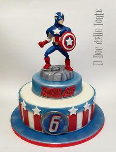 Captain America cake by Davide Minetti