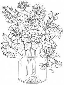 Floral Bouquets Coloring Book