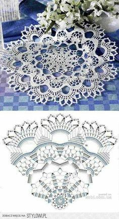 37 Ideas crochet lace diy beautiful for 2019 Crochet Doily Rug, Crochet Doily Diagram, Crochet Dollies, Crochet Flower Patterns, Crochet Chart, Thread Crochet, Filet Crochet, Crochet Designs, Crochet Flowers
