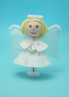 Christmas Angel Craft - Clothespin Dolls, Craft Kits by Montanye Arts