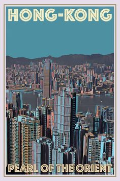 Vintage poster of Hong-Kong - Buy a poster online - all the world's most amazing places - retro poster - custom poster - free worldwide shipping - affiche vintage - affiche retro Hong Kong, Travel Wall, Beach Travel, Vintage Travel Posters, Vintage Ski, Online Posters, Vintage Hawaii, Philippines Travel, Custom Posters