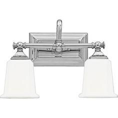POWDER: Two-Light Chrome Vanity Light