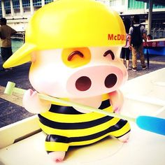 On Dragon Boat Festival, you can find McDull outside of Harbour City!