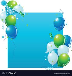 Balloon Hat, Balloons, Free Vector Images, Vector Free, Birthday Background, Card Birthday, Adobe Illustrator, Royalty, Backgrounds