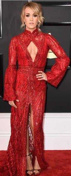 Carrie Underwood in Dress – Elie Madi  Jewelry – Nigaam, Randall Scott Fine Jewelry, and EFFY  Shoes – Jimmy Choo