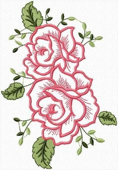 Hand Embroidery Videos, Embroidery Flowers Pattern, Rose Embroidery, Applique Embroidery Designs, Free Machine Embroidery Designs, Hand Embroidery Stitches, Embroidery Techniques, Rose Applique, Drop