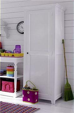weißer, eintüriger Schrank In diesem Schrank können Sie nicht nur Küchenutensilien verstauen, denn dank seiner Tiefe von 61 cm eignet er sic...