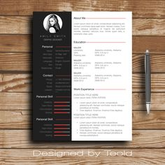 Cv Template Julia  Resume Format  Cover Letter  In English And