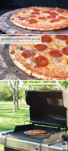 how to grill a frozen pizza, perfect for the summertime when you don't want to heat the house.