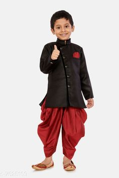 Checkout this latest Sherwanis Product Name: *Just Creation New Launched Boys Festive & Party, Wedding Sherwani and Dhoti Set* Pattern: Self-Design Multipack: 1 Sizes:  6-12 Months, 9-12 Months, 12-18 Months, 18-24 Months, 0-1 Years, 1-2 Years, 2-3 Years, 3-4 Years, 4-5 Years, 5-6 Years, 6-7 Years, 7-8 Years, 8-9 Years, 9-10 Years, 10-11 Years, 11-12 Years Country of Origin: India Easy Returns Available In Case Of Any Issue   Catalog Rating: ★4.3 (906)  Catalog Name: Tinkle Fancy Kids Boys Sherwanis CatalogID_1236179 C58-SC1172 Code: 185-7625109-0651