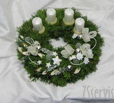 Sezonní aranžmá | Adventní svícny a věnce | Adventní věnec chvojí | ZSservis květiny Hlučín