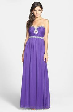 Way-In Embellished Sweetheart Neck Gown (Juniors) (Online Only) available at #Nordstrom
