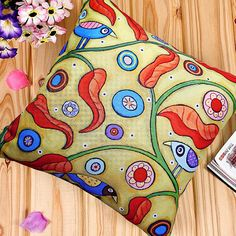 VELVET PILLOW COVER Three Birds and Branches by KarlaGerardArt