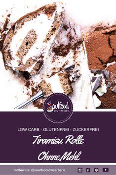 Heute gibt es das Rezept für eine Glutenfreie LowCarb Tiramisu Rolle ohne Zucker und ohne Mehl! So eine Low Carb Tiramisu Rolle macht immer ordentlich was her. Sobald man den Dreh raus hat klappt es auch wunderbar, aber es Bedarf ehrlicherweise etwas Übung – es lohnt sich! Du Schaffst das - viel Spaß beim Backen #lowcarb #Tiramisu #Lowcarbrezept #lchtrezept #ketorezept #ketotiramisu #Tiramisurolle Low Carb Restaurants, Low Carb Backen, Low Carb Desserts, Tiramisu, Recipes, Food, Gluten Free Cakes, Sugar Free Recipes, Rezepte