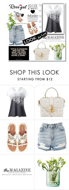 """""""Rosegal contest win $20"""" by nifa-1 ❤ liked on Polyvore featuring Dolce&Gabbana, Max&Co., Topshop, LSA International and Christian Dior"""