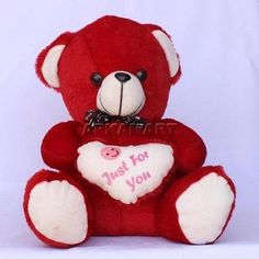 """Rosebuds with Bear Valentines Day Gift 12 1//2/"""" Polyester Rose Sweethearts Love"""