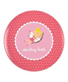 Love this Blonde Cupid Girl Personalized Plate on #zulily! #zulilyfinds