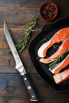 A serrated blade is utilized for cutting through bread, bagels, baguettes etc and ought to have a blade log enough to cut through a large loaf or a sandwich cake. Sandwich Cake, Tool Shop, Heat Treating, High Carbon Steel, Chef Knife, Grill Pan, Kitchen Knives, Utensils, Grilling