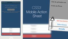 Mobile Action Sheet con Bootstrap 3 e Animazioni CSS3