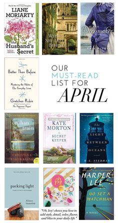 Our Must-Read List For April | theglitterguide.com