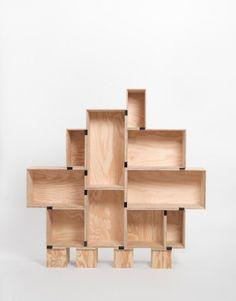 Wooden boxes estanteria