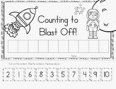 McGinnis' Little Zizzers: New Kindergarten Teaching Materials Space Theme Preschool, Space Activities, Numbers Preschool, Preschool Lessons, Preschool Classroom, Preschool Learning, Kindergarten Worksheets, Preschool Activities, Camping Activities