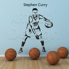Home & Garden Wall Stickers Sports Star Basketball Players Wall Decals Stephen Curry Stickers For Boy`s Room And School Easy Paste With Removable Adhesive
