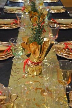 Dettagli tavola di Natale