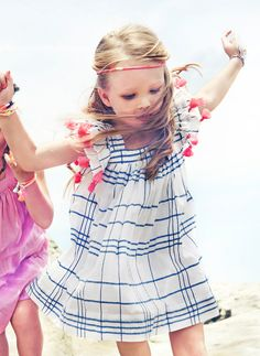 Nellystella Chloe Dress in Blue Check - PRE-ORDER - Hello Alyss - Designer Children's Fashion Boutique