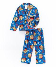 Look at this #zulilyfind! Blue Jake & the Never Land Pirates Button-Up Pajama Set - Toddler #zulilyfinds