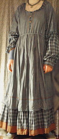 Купить или заказать ОДЕЖДА ДЛЯ СВОБОДНЫХ НАТУР в интернет-магазине на Ярмарке Мастеров. Платье из мягкого, натурального ,высококачественного хлопка Каждая деталь продумана так что это платье может носить маленькая девочка и обладательница крупной фигуры.