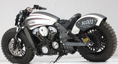 Indian Scout Offroading Motorcycle