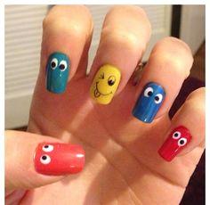 View Cute smiles nail art by Fayenailart on Nailsome. Nail Colors, My Nails, Colourful Nails, Nail Art, Beauty Ideas, Nail Ideas, Makeup, Cute, Weird