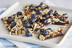 Driscoll's Dark Chocolate Blueberry Bark www.driscolls.com